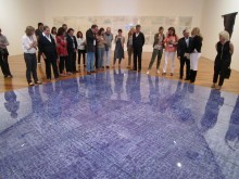 Members of the Latin American Acquisitions Committee visit thePinacoteca