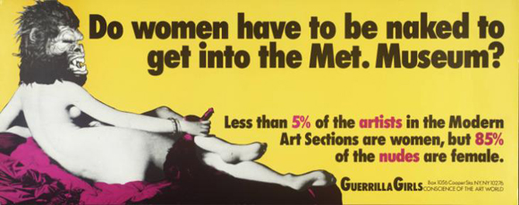 The Guerrilla Girls at Tate Modern October 4-9